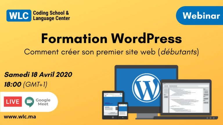webinar formation wordpress marrakech 2020