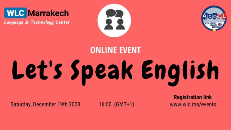 Let's speak english and make new friends in marrakech