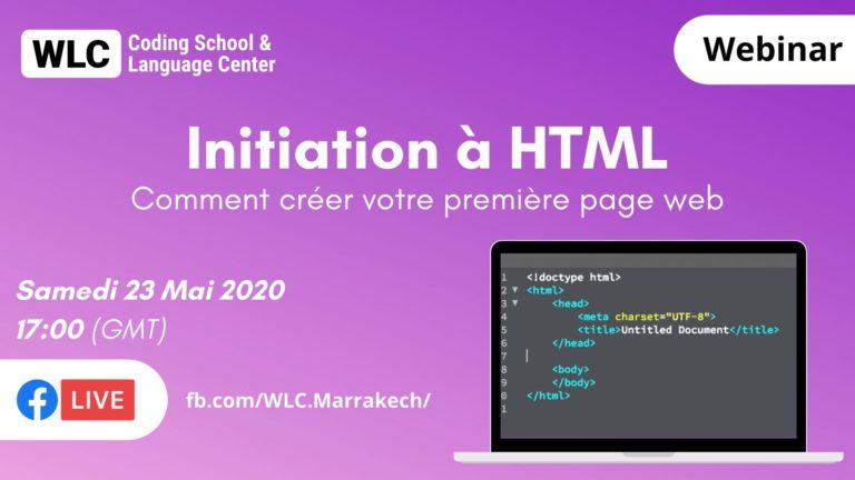 initiation à html pour les débutants wlc marrakech