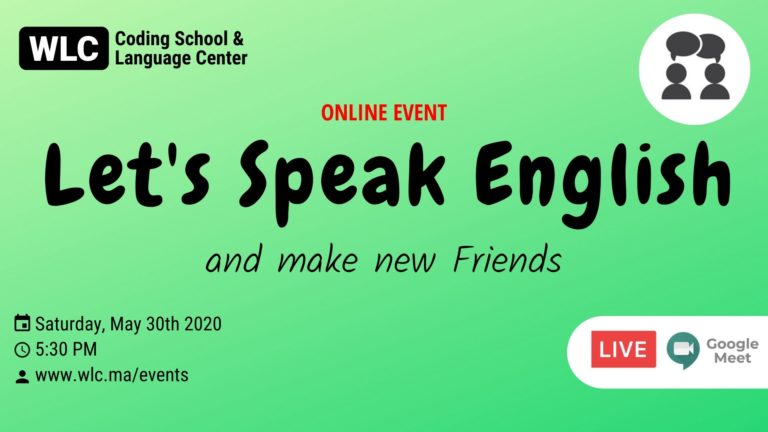 let's speak english and make new friends 30 may 2020