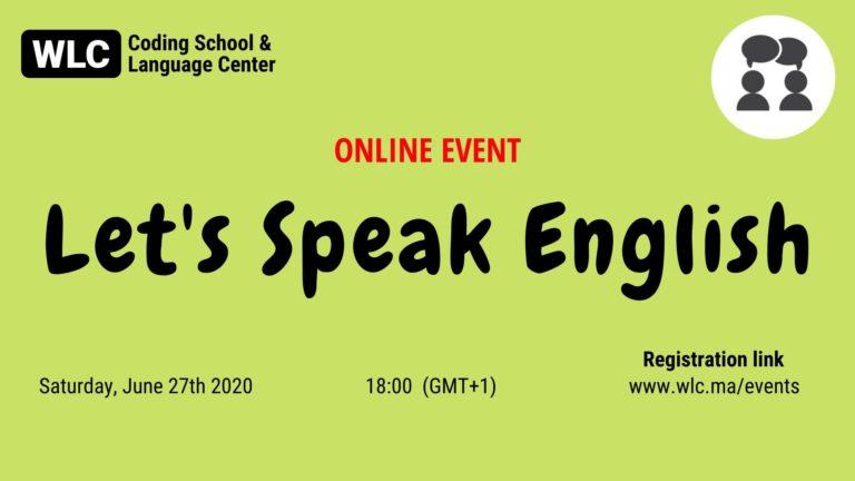 let's speak english marrakech wlc june 27th 2020